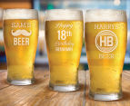 8 x Personalised Standard Beer Glass 425mL 5