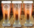 6 x Personalised Premium Beer Glass 285mL 6