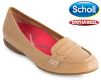 Scholl Women's Meadow Orthaheel Loafer - Biscuit Patent 1