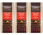 3 x Harvest Kitchen Soft & Chewy Triple Chocolate Cookies 200g 1
