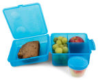 Sistema 2L Lunch Cube Max Container w/ Yoghurt Pot 6-Pack - Blue/Pink/Green 4