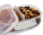 Sistema 630mL Bake It Split Container - Clear/White 4