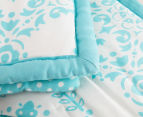 The Peanut Shell 112x94cm Medallion Quilt - Teal 4