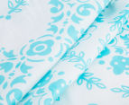 The Peanut Shell Floral Fitted Bassinet Sheet - Teal 4