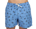 Ben Sherman Men's Beach Print Swim Short - Sky Blue 2