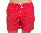 Ben Sherman Men's Bunting Print Boardshort - Red 2