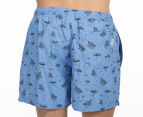 Ben Sherman Men's Beach Print Swim Short - Sky Blue 4