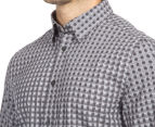 Ben Sherman Men's Geo Checked Shirt - Light Ash 6