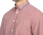 Ben Sherman Men's Gingham Mod Shirt - Dawn Red 6