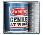 Warning, Genius At Work Novelty Mug 1