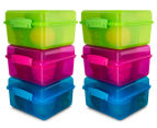 Sistema 2L Lunch Cube Max Container w/ Yoghurt Pot 6-Pack - Blue/Pink/Green 1