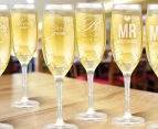 8 x Personalised Champagne Glass 170mL 5