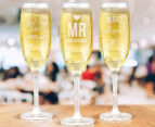 8 x Personalised Champagne Glass 170mL 6
