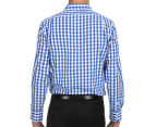 Van Heusen Men's Euro Fit Check Long Sleeve Shirt - Blue 5