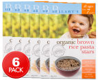 6 x Bellamy's Organic Brown Rice Pasta Stars 200g 1