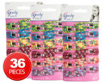3 x Goody Girls 12-Piece Snap Clips - Flower Pattern 1
