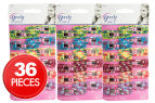 3 x Goody Girls 12-Piece Snap Clips - Flower Pattern 1