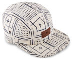 OBEY Riviera 5-Panel Cap - Cream/Multi 2