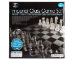 Imperial Glass Chess And Checkers Game Set - Multi  2