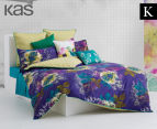 KAS Harper King Bed Quilt Cover Set - Multi  1