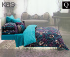 KAS Vienna Queen Bed Quilt Cover Set - Multi  1