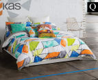 KAS Addy Queen Bed Quilt Cover Set - Multi  1