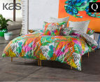 KAS Akela Queen Bed Quilt Cover Set - Multi  1