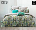 KAS Rania Queen Bed Quilt Cover Set - Multi  1