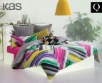 KAS Bermuda Queen Bed Quilt Cover Set - Multi  1