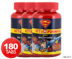 3 x Superman Vita Yummies Multivitamins 60 Pastilles 1