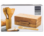 David & Waddell Essentials Bamboo 7-Piece Bread Bin & Tool Set 6