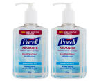 2 x Purell Advanced Instant Hand Sanitiser 240mL 1