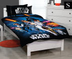 Star Wars Single Bed Quilt Cover Set - Multi 1
