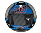 Sperling Steering Wheel Cover + 10-Disc Visor Set - Black/Blue 1