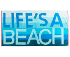 Velour 100x180cm Life's A Beach Towel - Blue  1