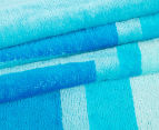 Velour 100x180cm Life's A Beach Towel - Blue  2