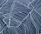 Velour 100x180cm Leaves Beach Towel - Navy/White 5