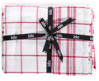 5-Pack 50x70cm Tea Towels - Red 3