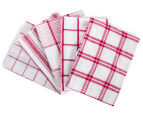 5-Pack 50x70cm Tea Towels - Red 1