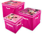 Set of 3 Minnie Mouse Toy Boxes - Pink 1