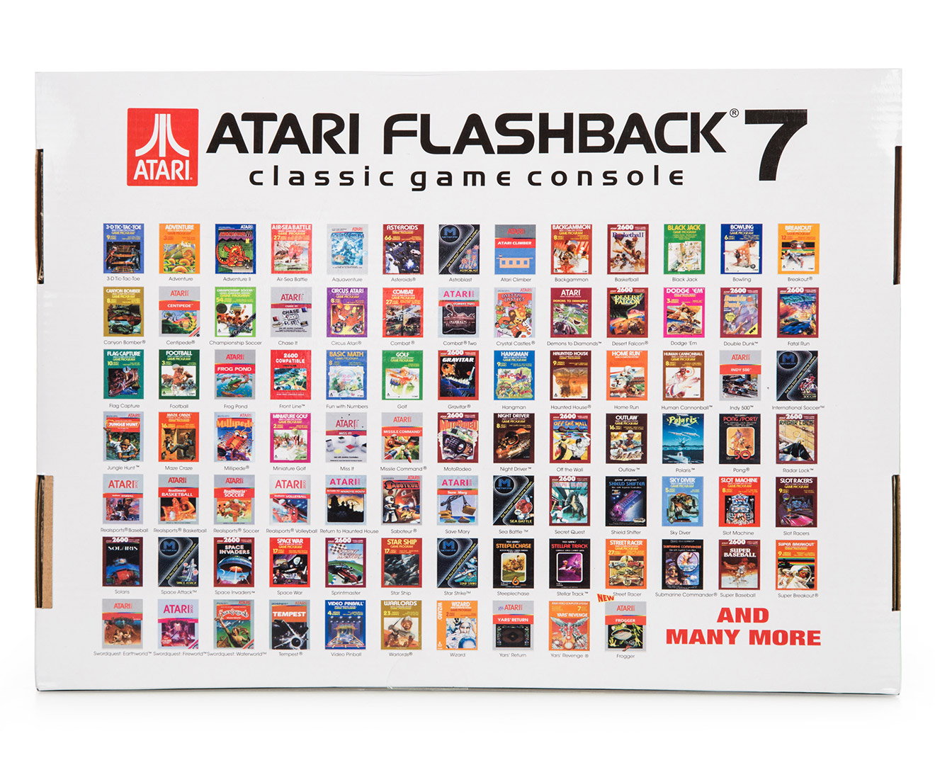 atari flashback 6 list of games