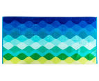 Velour 100x180cm Waves Beach Towel - Multi 1