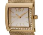 Fiorelli Women's 32mm Metallic Mesh Watch - Gold 3