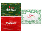 3 x Personalised Christmas 28x20cm Placemats 1