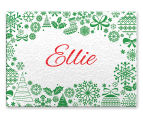 3 x Personalised Christmas 28x20cm Placemats 4