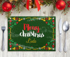 3 x Personalised Christmas 28x20cm Placemats 6