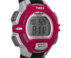 Timex Women's 30-Lap Rugged Sports Watch - Black/Pink/Silver  2