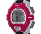 Timex Women's 30-Lap Rugged Sports Watch - Black/Pink/Silver  3