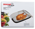 Gourmet Kitchen Carving Board & Carving Knife Set - Grey/Black 5