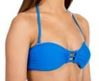 All About Eve Women's Bandeau Bar Bikini Top - Marine 2